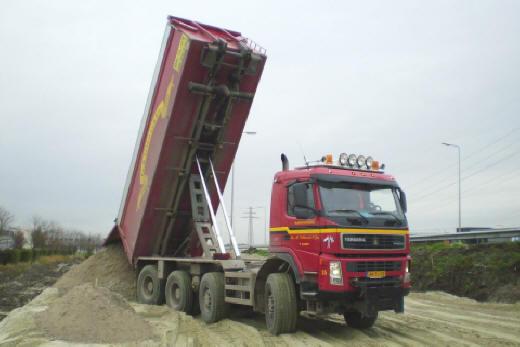 Kiepwagen zand