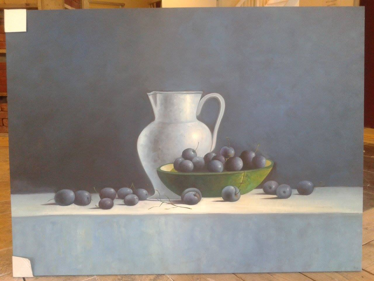 Canvas schilderij stilleven 2 90x120x0 - Decoratie schilderij wc ...