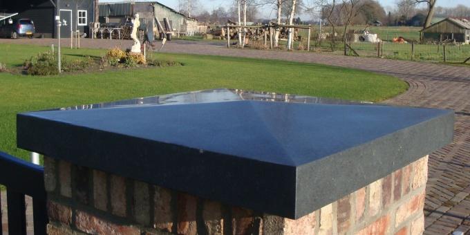 Zwart Basalt Gezoet Diamantkop