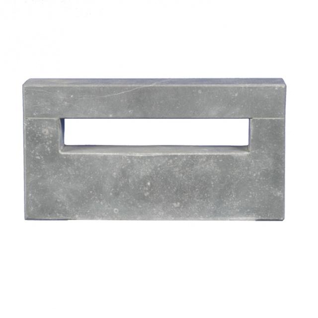 Hardsteen brievenbusplaat inbouw met opening (HGMG01991)