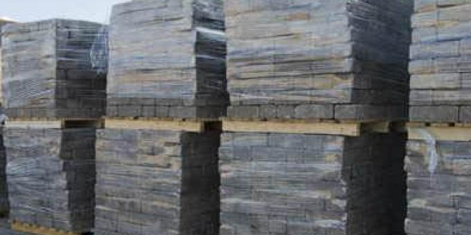 Pallet zwarte betonklinkers (10 m2)