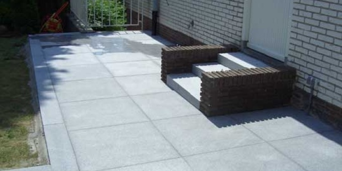 Graniet Tegels Tuin.Graniet Natuursteen Tuintegels Slimbestraten Nl