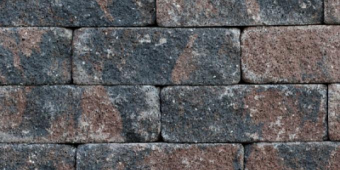 Splitrock Bruin/Zwart Getrommeld (SPLITXL15TROM)